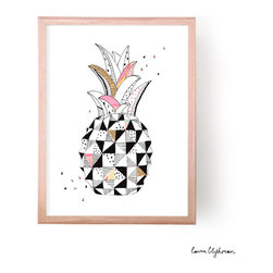 'Pineapple Love' Print - I love this graphic, modern interpretation of the pineapple. It's a print of an original hand-drawn illustration by designer Laura Blythman, and I think it really captures the spirit of the quirky fruit.
