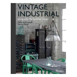 """Rizzoli International Publications - """"Vintage Industrial: Living with Machine Age Design"""" Hardcover - An exquisitely illustrated celebration of this influential style that is now at the forefront of interior design. Vintage Industrial covers the period from 1900 to 1950, which produced the raw, functional aesthetic that has become a cornerstone of modern design. The advent of the second industrial revolution created the need for a new kind of furniture to satisfy the demands of a rapidly growing workforce. Chairs, tables, lamps, and modular storage were designed from new materials to be mass-produced, stackable, and adjustable to the developing needs of brand-new industries that in turn were manufacturing the products that would define a changing society. These pieces, that inform a reclaimed style, are now highly popular among collectors and interior designers. This volume celebrates the engineers who shaped the industrial aesthetic as the unsung heroes of modern design and showcases their creations. By discovering ways to work iron and steel into functional forms, luminaries such as Bernard-Albin Gras, George Carwardine, Jean Prouvé, and Édouard-Wilfred Buquet sparked a revolution in the way we think about our built environment. Five chapters—on lighting, seating, tables, storage, and curiosities—describe the major innovations and designs from the period and include stunning photography depicting these objects in homes, workshops, factories, and warehouses. Meticulously curated, this elegant book is an informative style guide and source of inspiration for how to live with industrial design."""