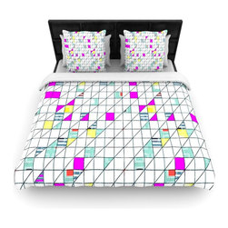 "Kess InHouse - Michelle Drew ""Squares"" Abstract Geometry Fleece Duvet Cover (King, 104"" x 88"") - You can curate your bedroom and turn your down comforter, UP! You're about to dream and WAKE in color with this uber stylish focal point of your bedroom with this duvet cover! Crafted at the click of your mouse, this duvet cover is not only personal and inspiring but super soft. Created out of microfiber material that is delectable, our duvets are ultra comfortable and beyond soft. Get up on the right side of the bed, or the left, this duvet cover will look good from every angle."
