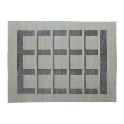 Oriental Rug, Hand Knotted 8'X10' Modern Gabbeh Raised Pile 100% Wool Rug SH9202 - Our Modern & Contemporary Rug Collections are directly imported out of India & China.  The designs range from, solid, striped, geometric, modern, and abstract.  The color schemes range from very soft to very vibrant.