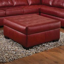 "Acme Furniture - Shi Ottoman in Soho Cardinal Bonded Leather - Shi Ottoman in Soho Cardinal BLM; Finish: Soho Cardinal BLM; Materials: Bonded Leather Match; Weight: 44 lbs; Dimensions: 38""L x 36""D x 20""H"