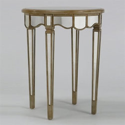 Manhattan Round End Table - I love that the mirror aspect of this classic end table makes it a little more modern.
