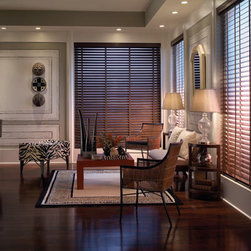"BlindSaver Advantage 2"" Wood Blinds - BlindSaver American Hardwood Blinds are made with durable and warp resistant basswood in a wide selection of paints and stains. Our wood blinds will bring a warm, natural look to your room while providing excellent energy efficiency and light control. Covered by a decorative valance, the heavy-duty slim design head rail is strong enough to cover large windows with a single blind while the standard decorative valance provides a finished look. A variety of options are available to enhance the look of your wood blinds."