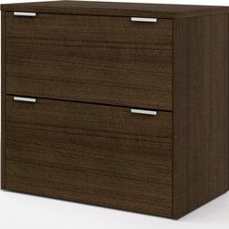 Bestar - Contempo Lateral File in Tuxedo - The Contempo Collection is built for the modern office with its flexible design, it offers large work surfaces, various storage solutions and multiple configurations. The lateral file offers two file drawers with letter/legal filing system. Drawers on ball-bearing slides for smooth and quiet operation. Also available in Tuxedo & Sandstone.