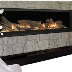 "Vermont Castings - Vermont Castings VWDV70NTSC 70"" Aura Linear Direct Vent Fireplace - Majestic VWDV70NTSC--70"" Aura Top Vent Linear DV Fireplace, Signature Command Control, Natural Gas"