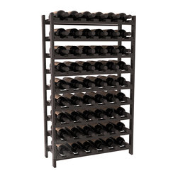 Wine Racks America - 54 Bottle Stackable Wine Rack in Ponderosa Pine, Black + Satin Finish - Three times the capacity at a fraction of the price for the 18 Bottle Stackable. Wooden dowels enable easy expansion for the most novice of DIY hobbyists. Stack them as high as you like or use them on a counter. Just because we bundle them doesn't mean you have to as well!