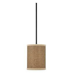 Quoizel - Quoizel ZE1508K Zen Contemporary Mini Pendant Light - This serene design is appropriate for almost any room, and brings an natural, exotic feeling into your home.  The tan rattan shades are tigtly woven and surrounded with coordinating trim, and the monochromatic color palette keeps the design tasteful and versatile.
