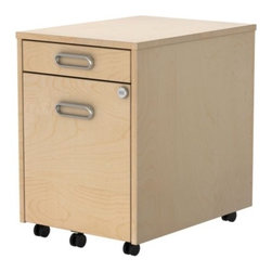 GALANT Drawer unit on casters - Drawer unit on casters, birch veneer