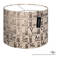Drum Lamp Shade - Periodic Table. - - Made to order by hand.