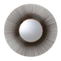 Serena & Lily - Metal Starburst Mirror - Handcrafted from start to finish, our mirror strikes a balance between mid-century glamour and artisan earthiness. The organic burst of iron is trimmed with gleaming brass a radiant look that works almost anywhere.
