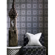Transitional Wallpaper by Kathy Kuo Home
