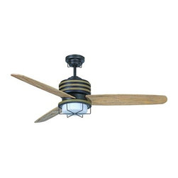 """Craftmade - Craftmade MOR543 Moorestad 54"""" 3 Blade Outdoor Ceiling Fan with Integrated Light - Features:"""
