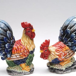 ATD - 4.5 Inch Standing and Sitting Mini Rooster Salt and Pepper Shaker Set - This gorgeous 4.5 Inch Standing and Sitting Mini Rooster Salt and Pepper Shaker Set has the finest details and highest quality you will find anywhere! 4.5 Inch Standing and Sitting Mini Rooster Salt and Pepper Shaker Set is truly remarkable.