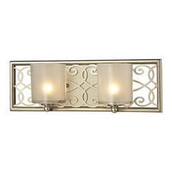 Elk Lighting - Santa Monica Aged Silver Two Light Bath Fixture - - Bulb Included: Yes Elk Lighting - 31427/2
