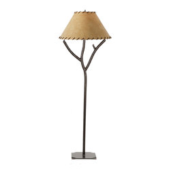 Stone County Iron Works - Woodland Woodland Brown Floor Lamp - Stone County Iron Works 901-625 Woodland Woodland Brown Lodge/Rustic Floor Lamp