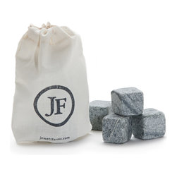 Jewett Farms Co - Soapstone Whiskey Stones - Never water down your drink again! Store your whisky stones in the freezer. When the single malt calls simply slip a couple in your glass for the perfect chill with no dilution. These stones literally put your drink on the rocks.