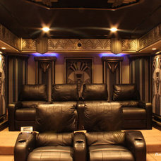 Contemporary Home Theater by Home Theater Lifestyles