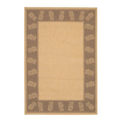 "Couristan - Recife Natural/Cocoa Rug - 11773000, Size: 7'6"" x 10'9"" - Distinctively designed to complement the simple yet classic styling of outdoor furniture, uniquely colored to make stone entryways and patio decks warmer and more inviting, Couristan is proud to expand its popular outdoor/indoor area rug collection, Recife. Power-loomed of 100% fiber-enhanced Courtron polypropylene, this all-weather, pet-friendly, mold and mildew resistant area rug collection features a durable structured, flatwoven construction, which allows it to be suitable for indoor and outdoor use. The naturally inspired color palette offered in this versatile collection features a series of unique combinations of natural hues that have been selected to complement today's hottest outdoor home furnishings. Hosting a wide range of sizes including runners and special shapes in the form of rounds and squares, the Recife Collection has been designed to offer the perfect outdoor floorcovering solution for the home."