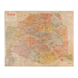 Uttermost Paris Nouveau Plan Giclee Artwork - Canvas stretched over wood frame this giclee artwork is on canvas that is stretched and attached to a wooden frame.