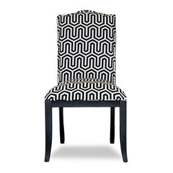 Urban Home Beverly Glen Side Chair Black and White - Made of superior dense foam for comfort and ergonomic support. This chair is perfect for a grand dining experience or as an accent chair.