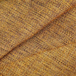 Salvinetti Upholstery Fabric in Gold - Salvinetti Upholstery Fabric in Gold is a rich gold textured fabric with dark brown threads woven throughout, creating dimension and a beautiful sheen. This tweed-like fabric is far from plain, but is understated enough to create the perfect backdrop for interior designs. Ideal for upholstery, bedding, or pillows. Made from a blend of 60% polyester and 40% rayon, this fabric passes 51,000 double rubs on the Wyzenbeek abrasion test. Width: 55″ Available in 4 colors.