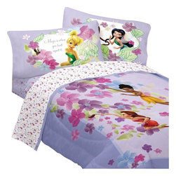 Store51 LLC - Disney Fairies Twin Bedding Set Magic Art Comforter Sheets - Features: