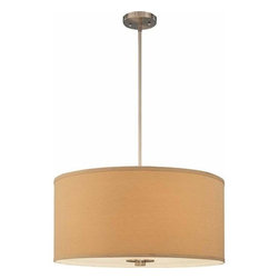 Volume Lighting - Volume Lighting V4355 Calare 5 Light Foyer Pendant - Five Light Foyer Pendant from the Calare CollectionAlluring and ideal, this 5 light foyer pendant features a bold brushed nickel finish and stunning handcrafted line shade.Features: