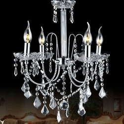 JollyHome - JollyHome Competetive Transparent Mini Chandelier Lighting Crystal - Suitable Bedroom, Dinning Room, Living Room, Hall.Mini Crystal Chandelier Design.Perfect in Home Lighting and Decoration.Adjustable Chain Length