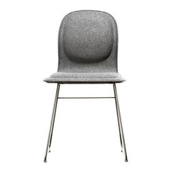 """Cappellini - Hi Pad Chair - Features: -Available in White Faux Leather, Black Faux Leather, Cat G Fabric and Cat C Feltro. -Seat is out of beech and birch plywood with multi-density polyurethane foam overlay. -Affixed cover in a variety of fabrics and leathers from the collection. -Base in satined stainless steel, polypropylene feet. -Warranty length: 2 Years. -No assembly required. -Overall dimensions: 32"""" H x 16.5"""" W x 20.75"""" D."""