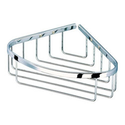 Geesa - Chrome Shower Basket - Keep your shower tidy now with this chrome shower basket made by Geesa. Crafted out of solid brass with a polished chrome finish. Includes screws and instructions for easy mounting.