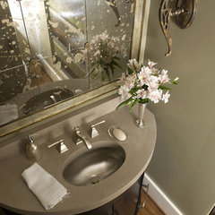 traditional powder room by Studio C Architecture &amp; Interiors
