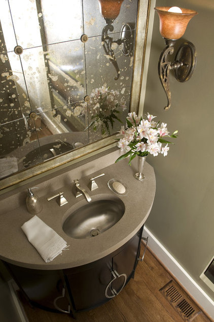 Traditional Powder Room by Studio C Architecture & Interiors
