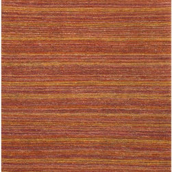 JRCPL - Hand-Made Stripe Pattern Red/ Orange Hemp Rug (3.6X5.6) - Hand-Made Stripe Pattern Red/ Orange Hemp Rug (3.6X5.6)