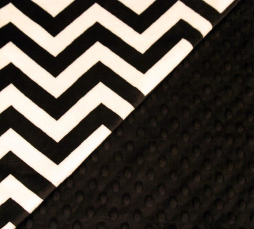 Feel my Pillows - Travel Pillow Cover - Design: Black and White Chevron with Black Polka Dots . Size: 13x13 inches. Insert not included.