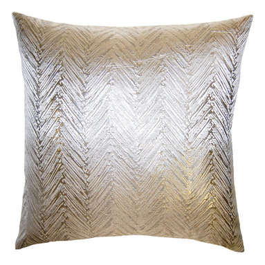 Square Feathers - Brillante Chevron Pillow - This is a chevron pattern you can easily get behind. The tone-on-tone design offers subtle pattern and texture in one ultra-chic pillow.