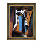 """Art MegaMart - Juan Gris Still Life on a Chair Framed Premium Canvas Print, 18""""x24"""" - 18"""" x 24"""" Juan Gris Still Life on a Chair framed premium canvas print reproduced to meet museum quality standards. Our Museum quality canvas prints are produced using high-precision print technology for a more accurate reproduction printed on high quality canvas with fade-resistant, archival inks. Our progressive business model allows us to offer works of art to you at the best wholesale pricing, significantly less than art gallery prices, affordable to all. This artwork is hand stretched onto wooden stretcher bars, then mounted into our 3 3/4"""" wide gold finish frame with black panel by one of our expert framers. Our framed canvas print comes with hardware, ready to hang on your wall.  We present a comprehensive collection of exceptional canvas art reproductions by Juan Gris."""