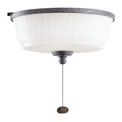 DECORATIVE FANS - KICHLER FANS 380900WSP Weathered Steel Ceiling Fan Light Kit - Optional remote control operation requires KCH-337214 control system.