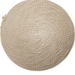 Flax Rug By Thomas Eyck - The Flax Rug by Thomas Eyck is a hand-made spiral rug, which is part of the Flax Project. The rough and simple object, the Flax Rug aims to bring back the use fibrous plant in the Netherlands.