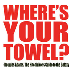 People Towels - PeopleTowels 2 Day Supply, Where's Your Towel - Pay tribute to author Douglas Adams and his book The Hitchhiker's Guide to the Galaxy with this cool towel. Carry it around on Towel Day and hang it in your kitchen the rest of the year as an ecofriendly alternative to paper towels.