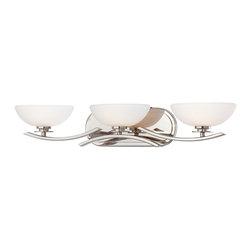 Minka Lavery - Minka Lavery 6923-77 Signatures Chrome 3 Light Bathroom Wall Sconce - Etched White Glass Shades