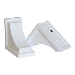 Mayne Inc. - Nantucket Decorative Brackets White (2pk) - Complete the look of your Nantucket window box with a pair of decorative supports.  The curved brackets are the perfect finishing touch to your installation. Made from high quality polyethylene offering a beautiful finishing touch with a classic look. Designed specifically for use with the Nantucket window boxes (model #'s 4829, 4831, 4831, & 4832).  Decorative brackets attach easily the existing wall mount brackets that come with the Nantucket window boxes. Includes 2 decorative brackets and 4 mounting screws. 15-year limited warranty.
