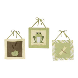 Sweet Jojo Designs - Leap Frog Wall Decor by Sweet Jojo Designs - The Leap Frog Wall Decor by Sweet Jojo Designs, along with the bedding accessories.
