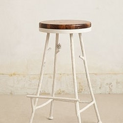 "Anthropologie - Forest Barstool - Iron, wood29.5""H, 16.5"" diameterHandmade in USA"