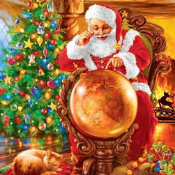Joy Around the World Puzzle - 1000 Piece Jigsaw PuzzleIt's Christmas time and Santa is planning his route! This richly textured and detailed puzzle brings the idea of Santa's travels even closer. This is a great Christmas puzzle complete with hidden details and all the cheer of the holiday season.