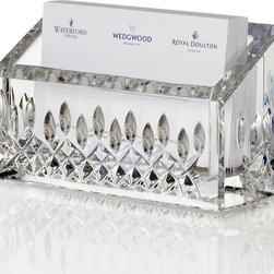 """Waterford - Lismore Business Card Holder - WaterfordLismore Business Card HolderHighlightsExtend the classic tradition beyond the dining room with this clear crystal business card holder in Waterford's enduring Lismore pattern. 4.5""""W x 1.5""""D x 2.5""""T. Imported.Designer About Waterford Crystal:Established in 1783 Waterford crystal is cherished around the world for its rich tradition of craftsmanship and artistry. Each piece from stemware to decorative items is still mouth blown and handcrafted by master artisans. A customary gift to royalty and heads of state a treasured heirloom for generations."""