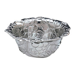 Arthur Court - Grapevine Nut Bowl - Sometimes you feel like a nut … nuts, chocolates, mints, M&M's, olives — you've just found a stylish home for those little nuggets. This bowl looks good wherever you place it. And it's not bad empty either.