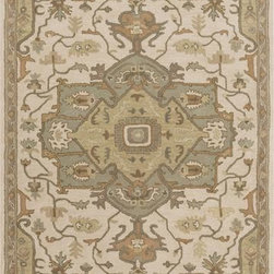 Surya - Surya Caesar CAE-1143 4' Round Beige, Chocolate Rug - Surya's best selling creations have been infused with possibilities as the Caesar collection takes on new life. Designer color combinations including deep browns, charcoal gray, and muted red make these time-honored pieces suitable for any interior. Hand tufted in India of 100% wool, each rug is available in over 20 sizes, and in a variety of styles such as round, square, oval and mansion-sized.