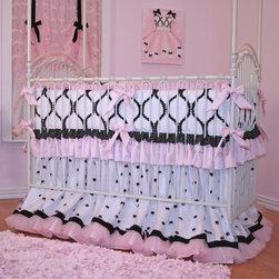 Chanel Crib Bedding for Girls - Chanel Crib Bedding by Little Bunny Blue