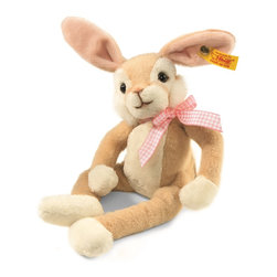 Steiff - Steiff Lulac Dangling Rabbit - Steiff Lulac Dangling Rabbit is made of cuddly soft blond plush. Ages 3 and up. Machine washable. Handmade by Steiff of Germany.
