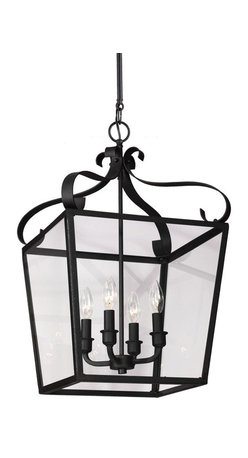 Sea Gull Lighting - Sea Gull Lighting Lockheart Traditional Foyer Light X-938-4049115 - The traditional Lockheart Lantern Collection is inspired by historic carriage lights updated with the trapezoid-shaped glass. While traditionally placed in entryways and halls, these types of fixtures are increasingly being selected by designers to enhance kitchen islands, dining areas and living rooms.